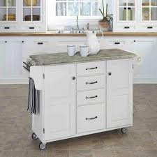 Linon Kitchen Island Linon Home Decor Sheridan White Kitchen Cart With Towel Bar