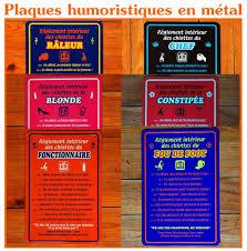deco plaque metal plaques humoristiques pour les toilettes le blog de www deco