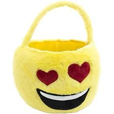plush easter baskets easter basket emoji plush basket with happy and heart shaped