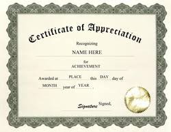 sle certificate of recognition template free editable certificate appreciation template
