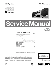 fw c28 service manual compact disc radio