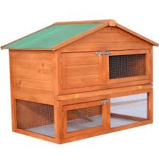 trixie rabbit hutch with peaked roof m glazed pine free