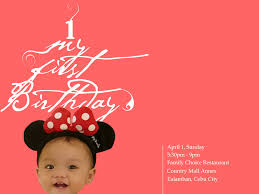 first birthday invitation card by filbryant on deviantart