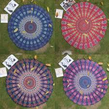 Outdoor Picnic Rug Summer Large Microfiber Printed Towels Circle