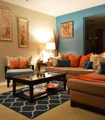 Brown Livingroom Great Brown Blue And Orange Living Room 33 On Image With Brown
