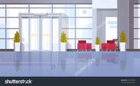 modern office hall building waiting room stock vector 654918796