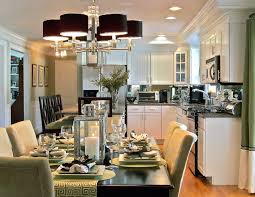eat in kitchen ideas small cape home open dining room to kitchen interior design