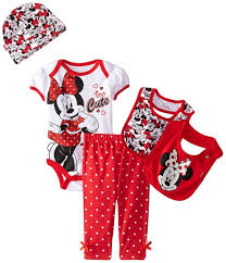 Minnie Mouse Clothes For Toddlers Disney Baby Girls Minnie Mouse 5 Piece Gift Box Set Purple Red