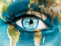 eyes digital art globe wallpapers hd desktop and mobile