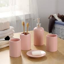 great pink bathroom accessories sets and online get cheap pink