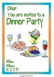 Dinner Party Invitations Free Dinner Party Invitations