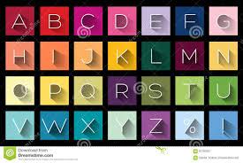 buchstaben design flache design buchstaben ikonenalphabet stock abbildung bild
