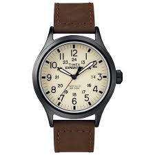 amazon black friday timex timex men u0027s t49963 expedition scout brown leather strap watch