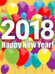 happy new year balloon rainbow new year balloon card 2018 birthday greeting cards by