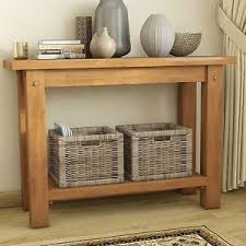 Living Room Console Table Rustic Console Table Hallway Furniture Living Room Waxed Pine Wood