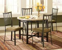 decatur marble like top counter height dining set with marble