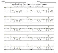 awesome collection of handwriting worksheets for kids with letter