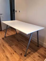 ikea adjustable height desk ikea thyge desk adjustable height white silver colour in