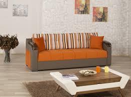 sofa bed divan deluxe signature orange by casamode