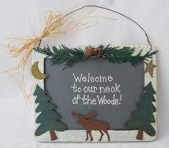 welcome sign wall hanging wood crafts northwoods decor