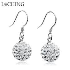 silver dangle earrings for prom loching earrings fashion simple 100 925 silver dangle