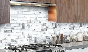 Brown Gray Metal Slate Backsplash by Tile Backsplashes Tile Ideas For Your Kitchen Kitchen Backsplash