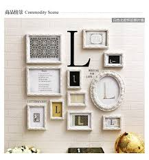 Letter L Home Decor by 11 Pcs Set Diy Wood Photo Frame Set Wall Picture Frames