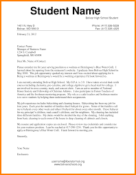 Cover Letter Example For Students Student Cover Letter Sample Choice Image Cover Letter Ideas