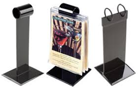 restaurant table top display stands menu holders sign holders covers outdoor cases floor stands