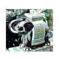 elephant end tables ceramic side tables ceramic elephant side table beautiful vintage elephant