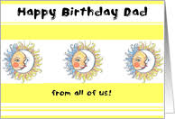 birthday cards for dad from all of us from greeting card universe