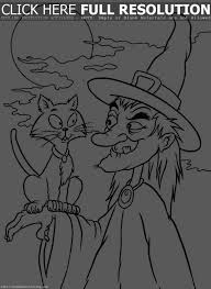 halloween witches coloring pages happy halloween witch