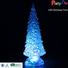 color changing led glass christmas tree color changing led glass