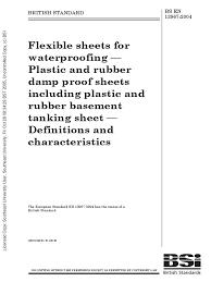 Basement Tanking Methods - bs en 13967 2004 flexible sheets for waterproofing pdf