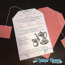 bridal tea party invitation printable or professionally printed bridal shower invitation