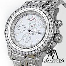 bentley breitling diamond diamond breitling super avenger watch white index dial model