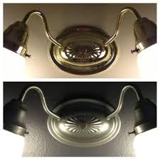 Spray Painting Brass Light Fixtures Fascinating Spray Painted Brass Light Fixture To A Brushed Metal