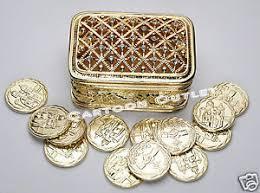 arras de boda wedding ceremony gold box arras de boda 13 coins golden chest