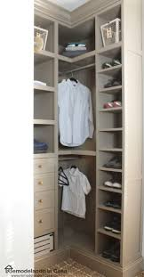 diy small closet makeover the reveal bricolage small