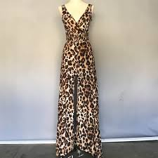 cheetah print jumpsuit 53 bebe beautiful cheetah print jumpsuit from dolly