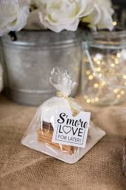 wedding table favors diy s mores wedding favors weddinglovely