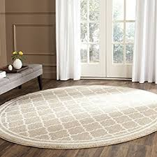 Indoor Outdoor Round Rugs Amazon Com Safavieh Amherst Collection Amt414b Light Grey And