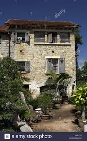 french style stone country house with wooden shutters dalat south