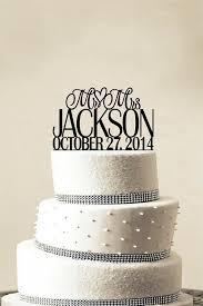 wedding cake toppers and groom custom wedding cake topper personalized monogram cake topper