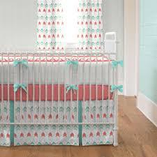 Mint Green Crib Bedding Blankets Swaddlings Coral And Mint Green Crib Bedding In