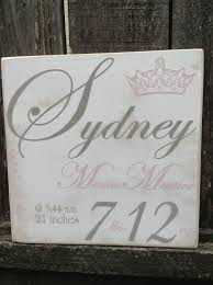 Baby Plaques Personalized 29 Best Custom Baby Signs Images On Pinterest Nursery Signs