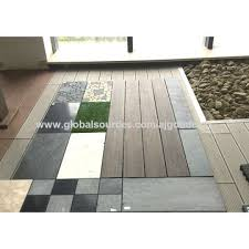 china outdoor living diy outdoor patio deck tile interlocking on