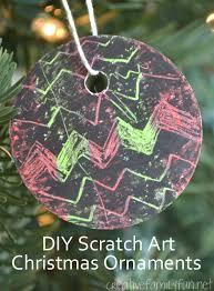diy scratch ornaments creative family