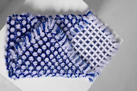 Pom Pom Crib Bedding by Infant Blanket Newborn Pom Pom Blanket Blue White Baby