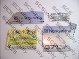 husqvarna 371xp early decal set chainsawr